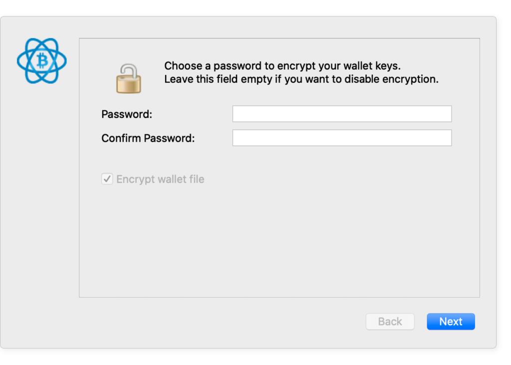Установка пароля в Electrum Wallet